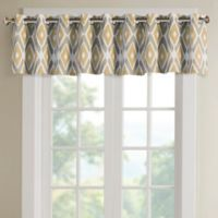 Madison Park Ashlin Diamond Printed Valance in Yellow