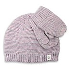 Cuddl Duds® Toddler 2-Piece Ombre Garter Stitch Beanie Hat and Mitten Set in Plush Pink