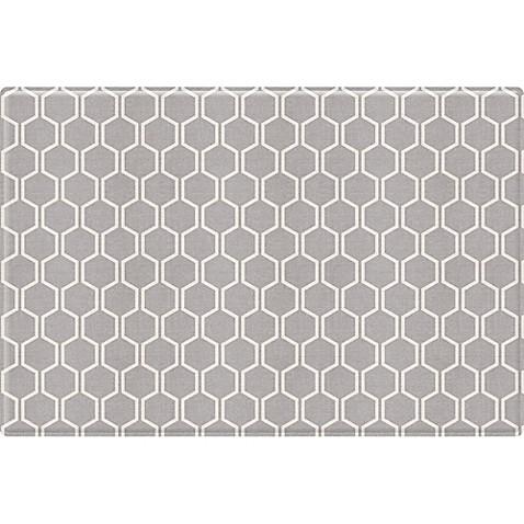 Parklon mono raum modern lin design cushion mat in grey for Moderner raum