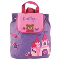 Stephen Joseph® Princess Bear Quilted Backpack in Purple