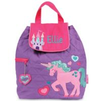 Stephen Joseph® Unicorn Quilted Backpack in Purple