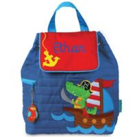 Stephen Joseph® Alligator Quilted Backpack in Blue