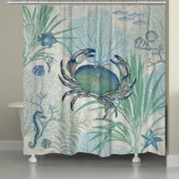 Laural Home Blue Crab Shower Curtain