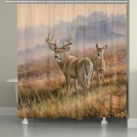 Laural Home Deer in Lifting Fog Shower Curtain