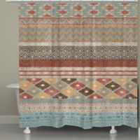 Laural Home® Navajo Inspired Stripe Shower Curtain