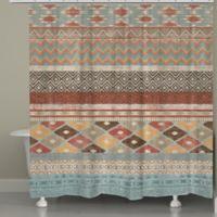 Laural HomeR Navajo Inspired Stripe Shower Curtain