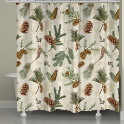 Laural Home Pinecone Shower Curtain