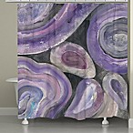 Laural Home® Purple Geode Shower Curtain