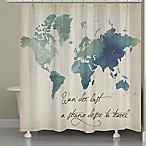Laural Home® Watercolor Wanderlust Shower Curtain