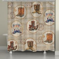 Laural Home® Western Boots Shower Curtain