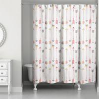 Designs Direct Wild Arrow 71 Inch X 74 Shower Curtain In Pink