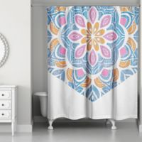 Designs Direct Mad About Mandalas 71-Inch x 74-Inch Shower Curtain in Blue