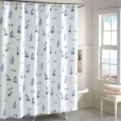 leeward shower curtain buy sailboat shower curtain from bed bath u0026 beyond
