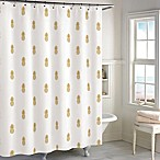 Destinations Golden Pineapple Shower Curtain