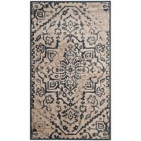 Safavieh Vintage Katalan 3-Foot 3-Inch x 5-Foot 7-Inch Area Rug in Cream/Blue