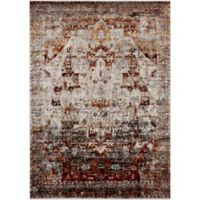 Surya Uthaca Distressed 6-Foot 7-Inch x 9-Foot 6-Inch Area Rug in Dark Red
