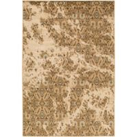 Surya Peroz Classic Floral 6-Foot 7-Inch x 9-Foot 6-Inch Area Rug in Tan