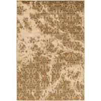 Surya Peroz Classic Floral 8-Foot 10-Inch x 12-Foot 9-Inch Area Rug in Tan