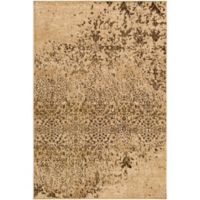 Surya Peroz Classic Abstract Botanical 2-Foot x 3-Foot Accent Rug in Tan