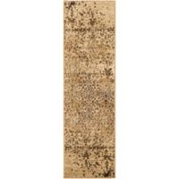 Surya Peroz Classic Abstract Botanical 2-Foot 2-Inch x 7-Foot 6-Inch Runner in Tan