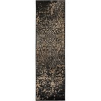 Surya Peroz Classic Abstract Botanical 2-Foot 2-Inch x 7-Foot 6-Inch Runner in Black