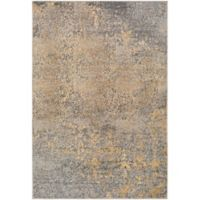 Surya Peroz Classic Abstract Botanical 5-Foot 3-Inch x 7-Foot 6-Inch Area Rug in Pale Blue