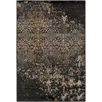 Surya Peroz Classic Abstract Botanical 5-Foot 3-Inch x 7-Foot 6-Inch Area Rug in Black