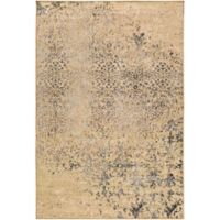 Surya Peroz Classic Distressed Botanical 7-Foot 9-Inch x 11-Foot 2-Inch Area Rug in Tan