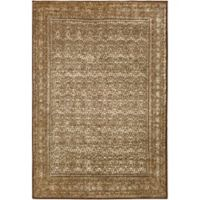 Surya Peroz Classic Border 5-Foot 3-Inch x 7-Foot 6-Inch Area Rug in Dark Brown