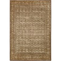 Surya Peroz Classic Border 6-Foot 7-Inch x 9-Foot 6-Inch Area Rug in Dark Brown