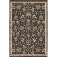 Surya Peroz Classic Floral 7-Foot 9-Inch x 11-Foot 2-Inch Area Rug in Black