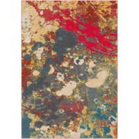Surya Zaguide Modern 5-Foot 3-Inch x 7-Foot 6-Inch Area Rug in Bright Red