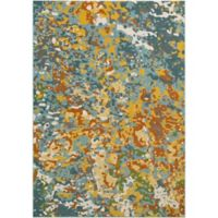 Surya Zaguide Camo 5-Foot 3-Inch x 7-Foot 6-Inch Area Rug in Teal
