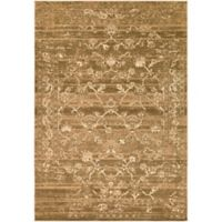 Surya Peroz Classic Distressed Border 6-Foot 7-Inch x 9-Foot 6-Inch Area Rug in Dark Brown