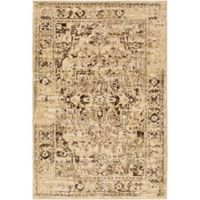 Surya Peroz Classic Distressed Border 7-Foot 9-Inch x 11-Foot 2-Inch Area Rug in Beige