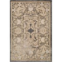 Surya Peroz Classic Botanical Border 2-Foot x 3-Foot Accent Rug in Black