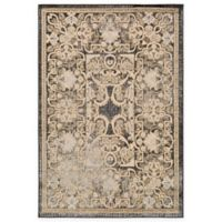 Surya Peroz Classic Botanical Border 5-Foot 3-Inch x 7-Foot 6-Inch Area Rug in Black