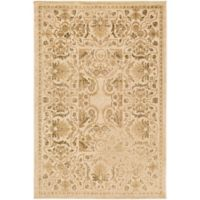 Surya Peroz Classic Botanical Border 6-Foot 7-Inch x 9-Foot 6-Inch Area Rug in Beige