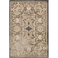Surya Peroz Classic Botanical Border 8-Foot 10-Inch x 12-Foot 9-Inch Area Rug in Black