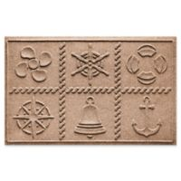 Weather Guard™ Nautical Grid 24-Inch x 36-Inch Door Mat in Brown