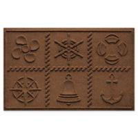 Weather Guard™ Nautical Grid 24-Inch x 36-Inch Door Mat in Dark Brown