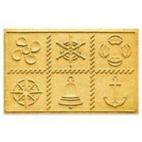 Weather Guard™ Nautical Grid 24-Inch x 36-Inch Door Mat in Yellow