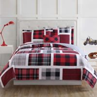 Laura Hart Kids Buffalo Plaid Twin Quilt Set in Red/Black