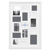 Gallery 15-Opening 20-Inch x 30-Inch Wood Collage Frame in White