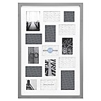Gallery 15-Opening 20-Inch x 30-Inch Wood Collage Frame in Grey