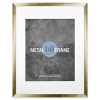 Gallery 8-Inch x 10-Inch Matted Brushed Metal Frame in Gold