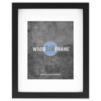 Gallery 8-Inch x 10-Inch Matted Wood Frame in Black