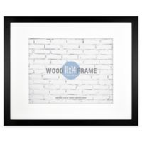 Gallery 11-Inch x 14-Inch Matted Wood Frame in Black