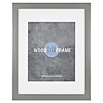 Gallery 8-Inch x 10-Inch Matted Wood Frame in Grey