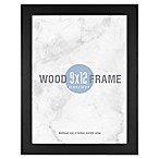 Gallery 9-Inch x 12-Inch Wood Frame in Black